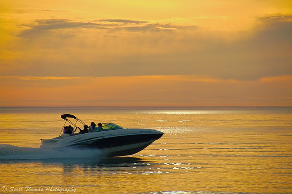 Boating is a popular recreational use of Lake Ontario.