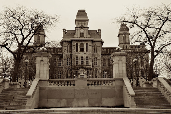 The Hall of Languages on the Syracuse University campus in Syracuse, New York.