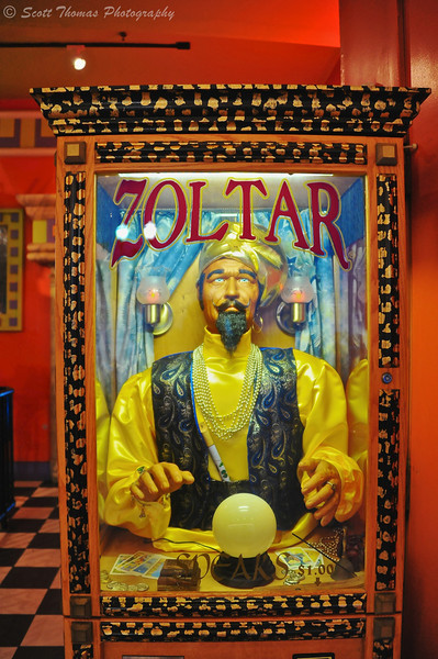 Zoltar coin operated fortune teller machine outside of Ripley's Believe it or Not Museum on the Atlantic City Boarwalk in New Jersey.