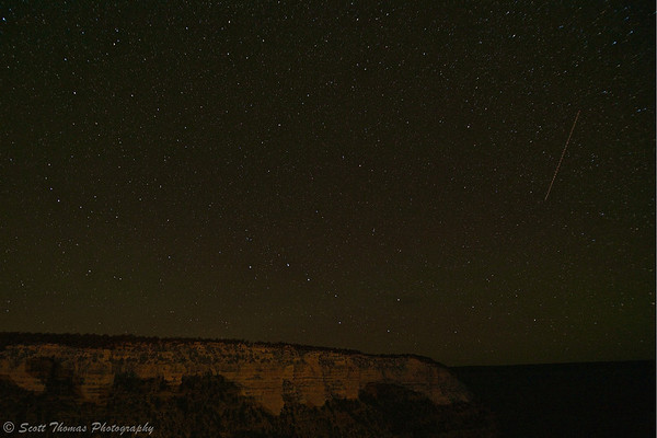 The night sky above the Grand Canyon National Park in Arizona.
