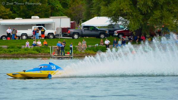 1.0 Liter Modified hydroplane racing at the HydroBowl on Seneca Lake in Geneva, New York.