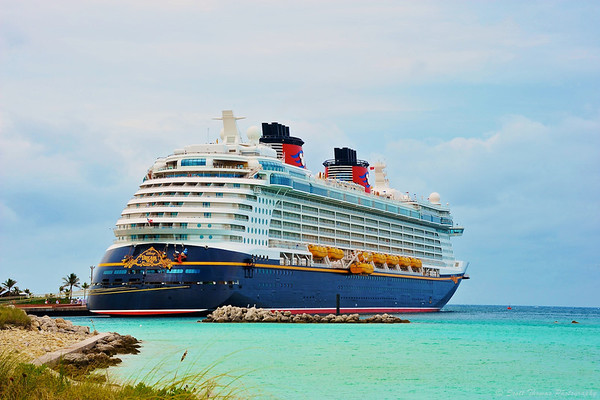 The Disney Dream at Castaway Cay.