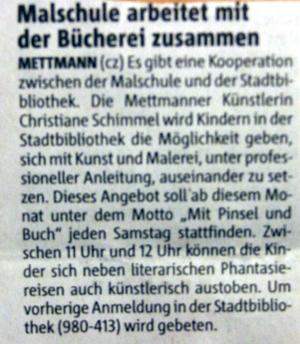 Malschule Mettmann, Christiane Schimmel