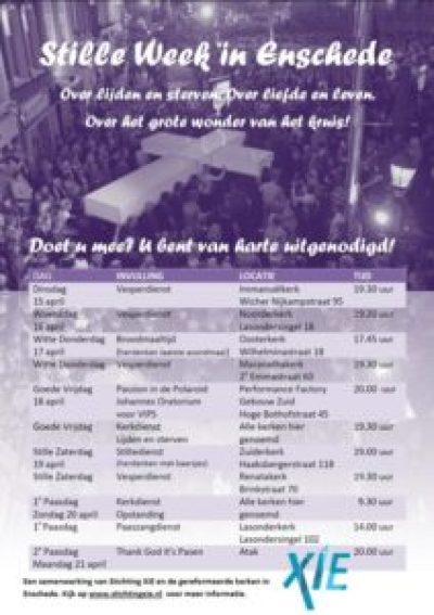 Flyer Stille Week in Enschede 2014