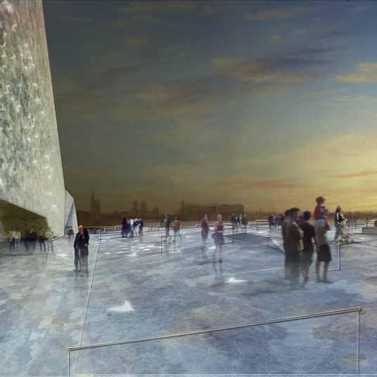 Vue sur la toiture - Philharmonie de Paris