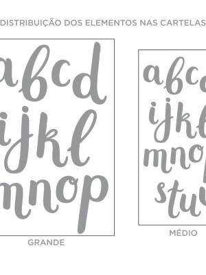 Kit de Adesivos de Parede Alfabeto