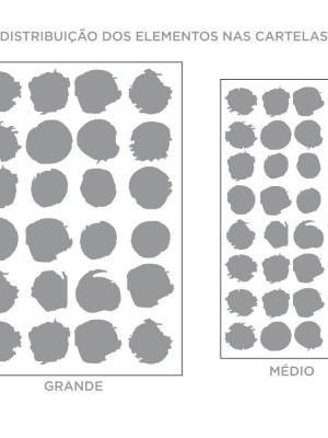 Kit de Adesivos de Parede Bolinhas Irregulares