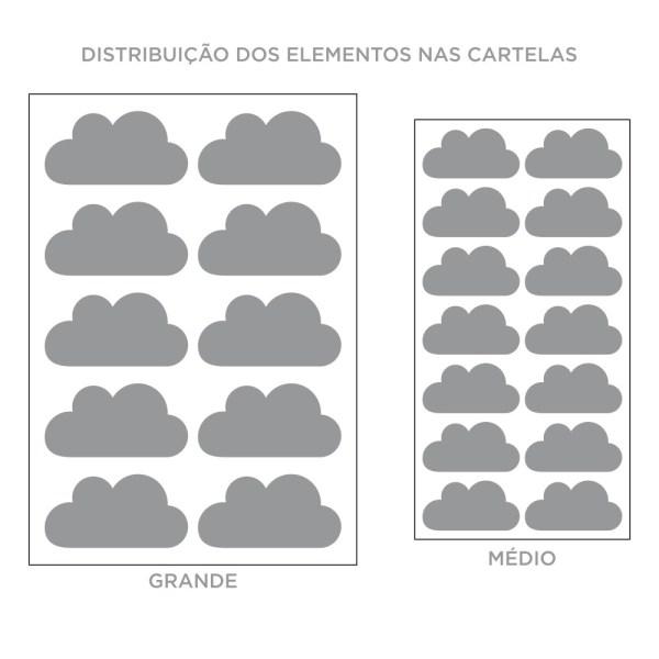 Kit de Adesivos de Parede Nuvem