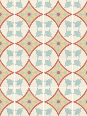 Papel de Parede Adesivo Azulejo Retro