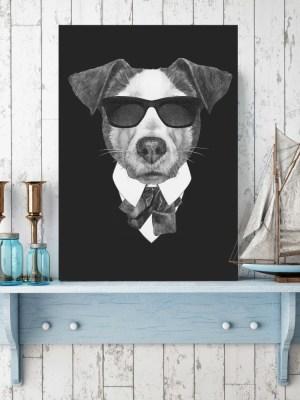 Placa Decorativa Dog Black