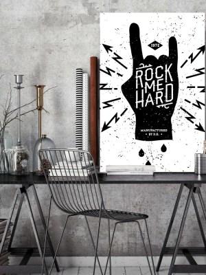 Placa Decorativa Rock me Hard