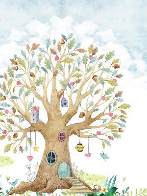 Painel Fotográfico Infantil Lúdico Árvore