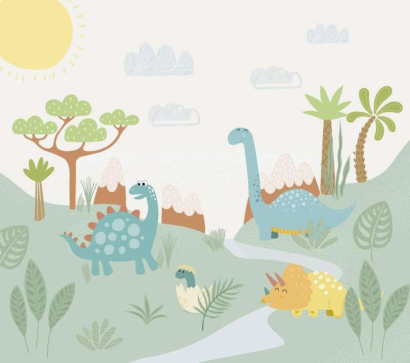 Painel Fotografico Era dos Dinossauros