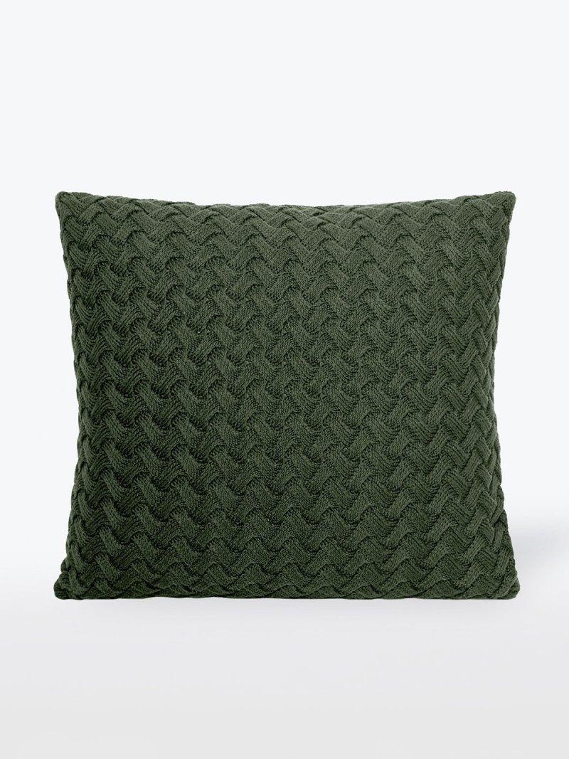 Almofada de Tricot Berenice Trançada Verde