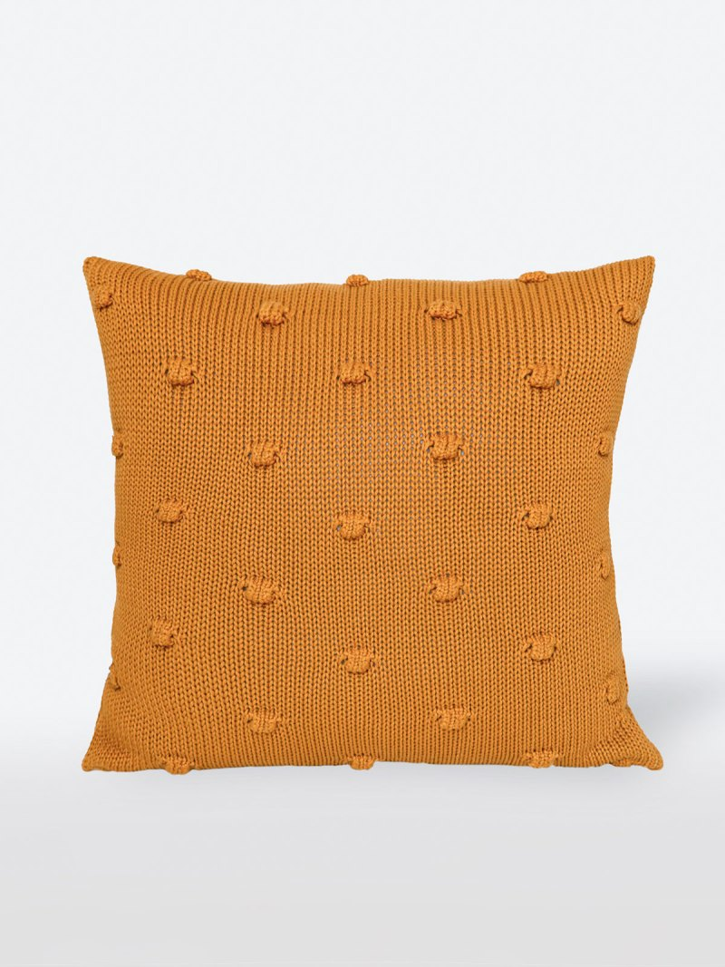 Almofada de Tricot Olivia Mostarda
