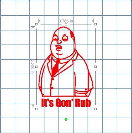 Ollie Williams It S Gon Rub Sticker Stickerboost Com