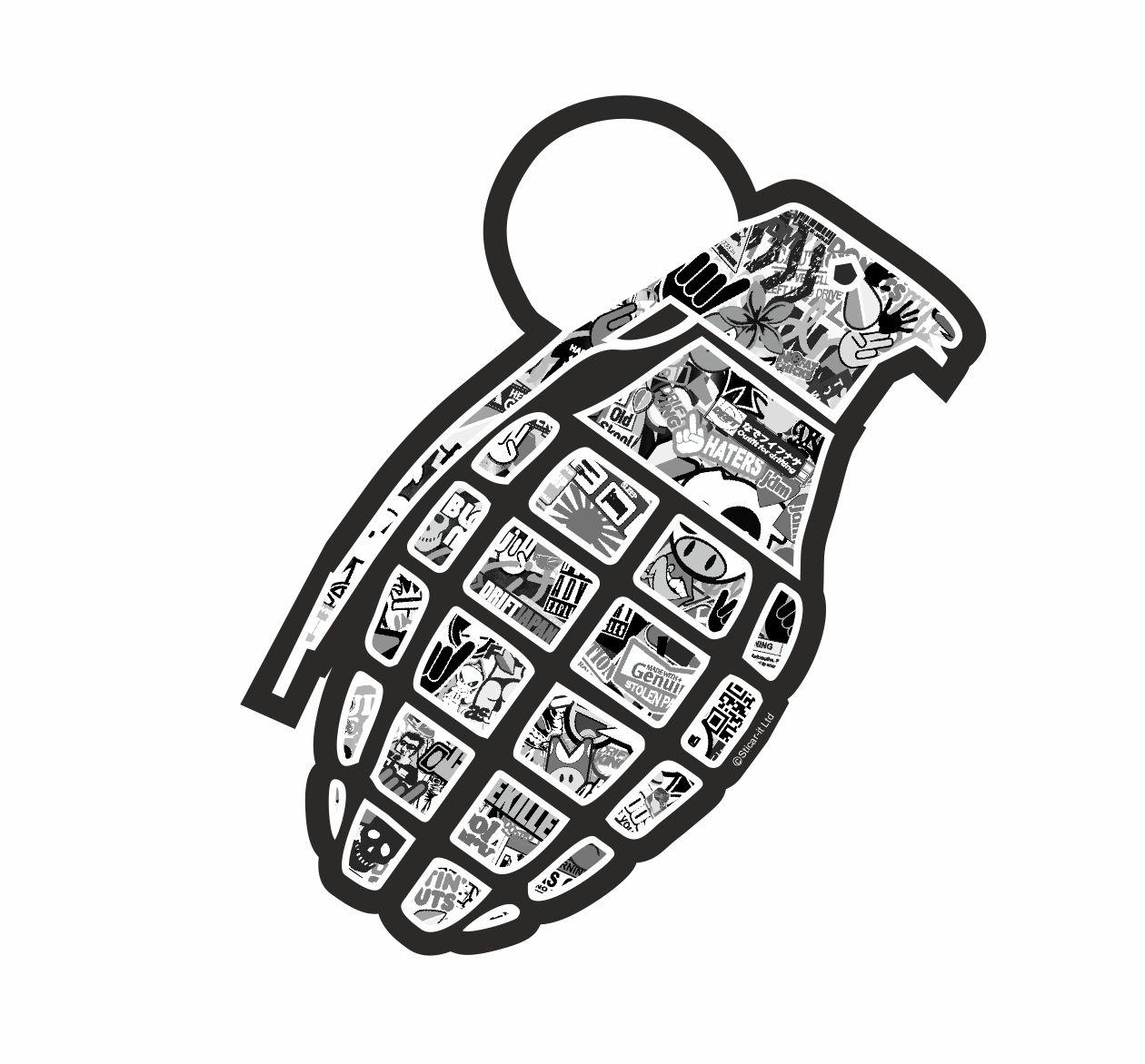 Hand Grenade With Jdm Drift Style Black Amp White