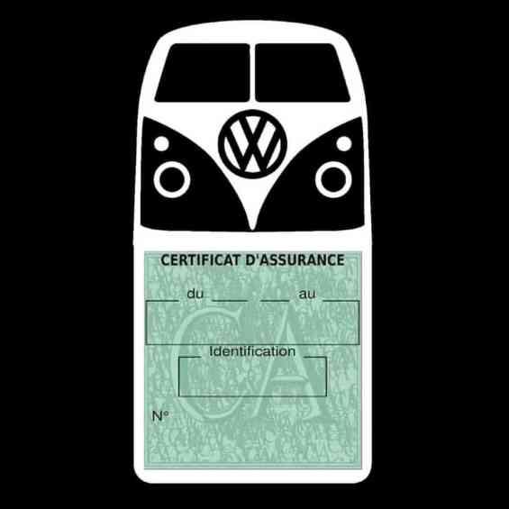 Vignette assurance Volkswagen Kombi T1 Split blanc