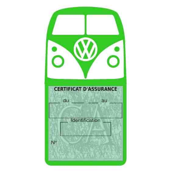 Vignette assurance Volkswagen Kombi T1 Split vert clair