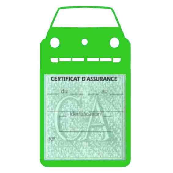 GOLF 2 porte étui assurance voiture Volkswagen vert clair une pochette simple