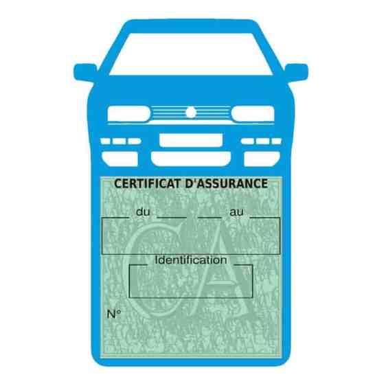 Golf 3 vignette assurance voiture Volkswagen bleu clair