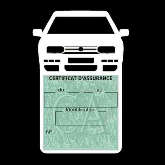 Golf 3 vignette assurance voiture Volkswagen blanc