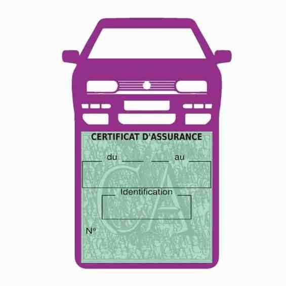 Golf 3 vignette assurance voiture Volkswagen mauve