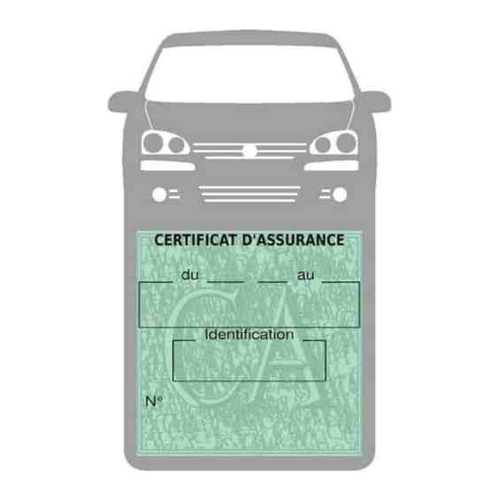 GOLF 6 Vignette assurance voiture Volkswagen gris