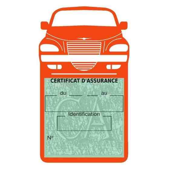 Etui assurance voiture PT Cruiser Chrysler orange