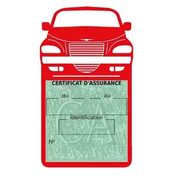 Etui assurance voiture PT Cruiser Chrysler rouge