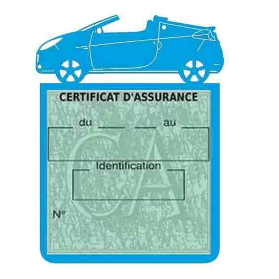 WIND RENAULT étui assurance voiture bleu clair