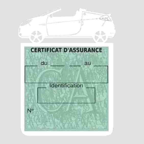 WIND RENAULT étui assurance voiture blanc
