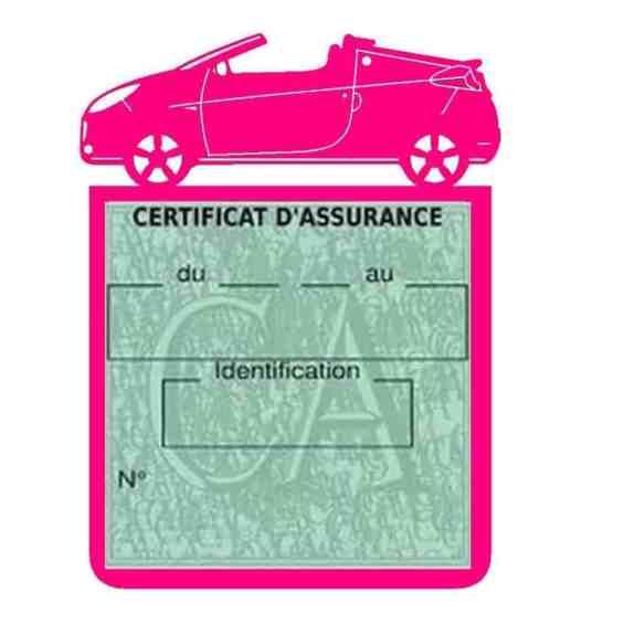 WIND RENAULT étui assurance voiture rose