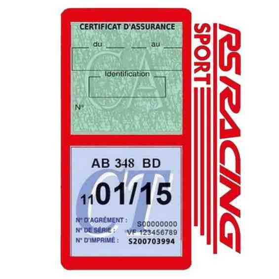 RS Racing Sport Vignette assurance voiture rouge