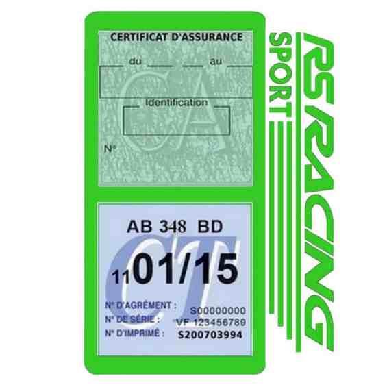 RS Racing Sport Vignette assurance voiture vert clair