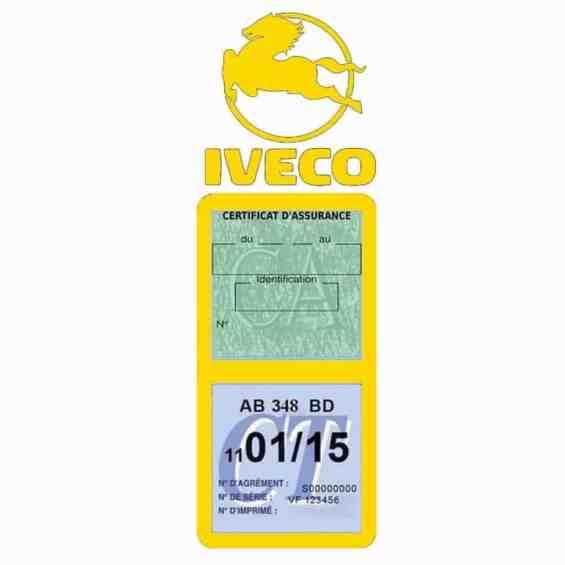 IVECO Vignette Assurance Poids Lourds jaune