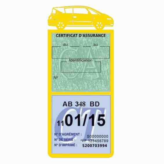 AVANTIME RENAULT Etui assurance voiture méga pochette jaune