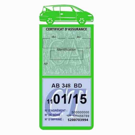 AVANTIME RENAULT Etui assurance voiture méga pochette vert clair