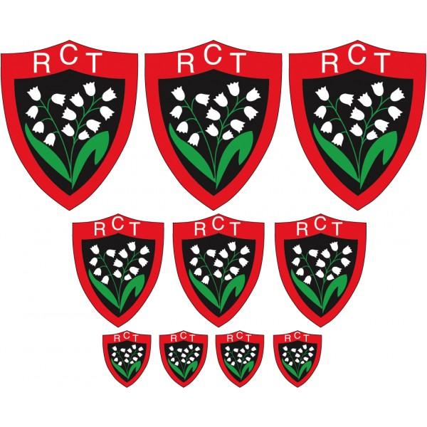 Stickers Autocollant Sport 10 Logos Du RC Toulon