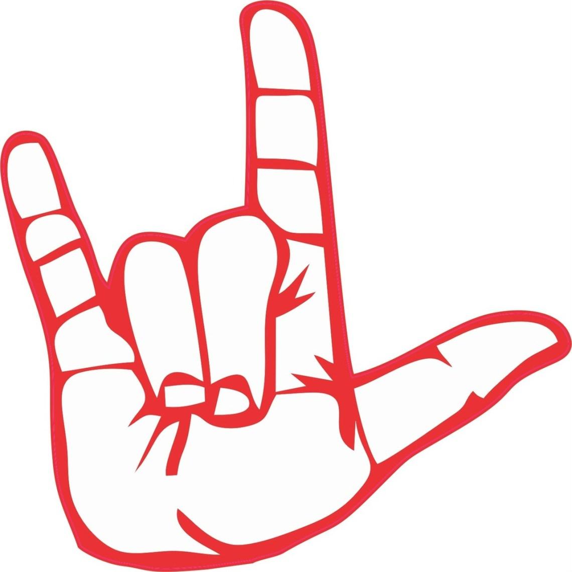 Download 5in x 5in Sign Language ASL I Love You Bumper Sticker ...