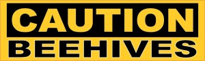 Caution Beehives Sticker