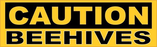 Caution Beehives Sticker