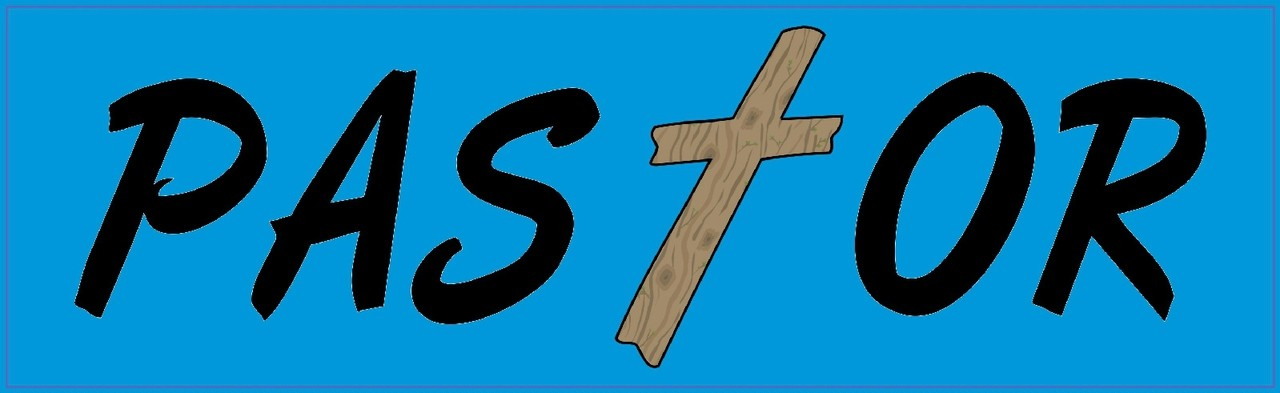 10in X 3in Pastor Religious Christian Vinyl Bumper Sticker Decal