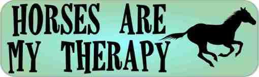 Horses Are My Therapy Bumper Sticker