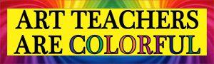 art teachers are colorful