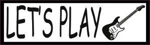 Let's Play Electric Guitar Vinyl Sticker