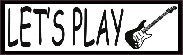 Let's Play Electric Guitar Vinyl Sticker