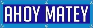 Ahoy Matey Bumper Sticker