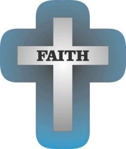 Die Cut Blue Cross Sticker