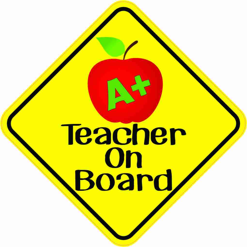 Teacher On Board Sticker